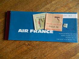 AIR FRANCE :BILLET D'AVION BRUXELLES NICE AJACCIO BRUXELLES 1966 - Carte D'imbarco Di Aerei