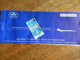 SABENA +AIR MALTA +IATA :BILLET D'AVION BRUXELLES MALTE 1976 - Carte D'imbarco Di Aerei