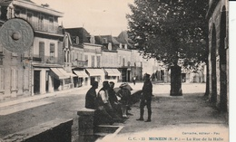 68 - Carte Postale Ancienne De  MONEIN   La Rue Des Halles - Altri Comuni