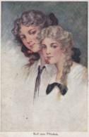 Illustrée Signée Ruth GUICHALK : Femmes Aux Cerises (lot Pat 98 ) - Frauen