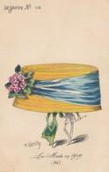 CPA Femme Lady Women Girl Chapeau Immense Hat La Mode En 1909 Eté Le Sourire N° 118 Illustrateur ROBERTY (2 Scans) - Andere Zeichner