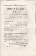 Bulletin Des Lois 1147 De 1844 Chemin De Fer Orléans Bordeaux, Orléans Vierzon, Amiens Boulogne - Décrets & Lois