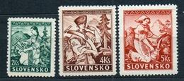 Slovakia 1939 Michel: 43-45 * MLH - Slovakia