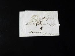 LETTRE DE LANGON POUR BROCAS   -  1842  - - 1801-1848: Précurseurs XIX