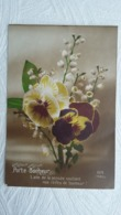 CPA - Langage Des Fleurs  -  1918 Porte Bonheur - L'Aile De La Pensée Soutient Nos Rêves De Ponheur - Edit : Rex - Blumen