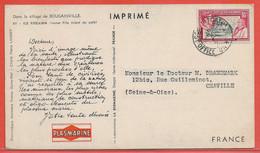 PITCAIRN CARTE PHARMACEUTIQUE DE 1955 POUR CHAVILLE FRANCE - Timbres