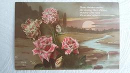 CPA - Langage Des Fleurs -Toutes Fraiches Cueillies Ces Tendres Fleurs D'Amour Rendent L'Ame Ravie  Edit : LUX - Blumen