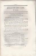 Bulletin Des Lois 1149 De 1844 Chemin De Fer Montpellier Nimes Et Atmosphérique Entre Nanterre Et Saint Germain - Décrets & Lois