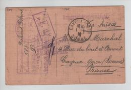 160PR/ CP Civils Musiciens PDG-POW Souvenir De Sennelager Paderborn Diverses Censures 1916 > Cayeux S/Mer C.d'arrivée - Marcophilie (Lettres)