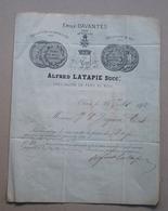 Oloron - Facture / Lettre  Alfred Latapie , Spécialité Fers Au Bois Pour Daguerre à Tardets , Timbre 1878 - Oloron Sainte Marie