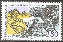 France - 1994 - Hommage Aux Maquis - YT 2876 Neuf Sans Charnière - MNH - France