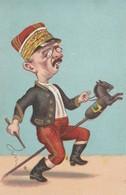 CPA Caricature Satirique Homme Politique ROUVIER Illustrateur (2 Scans) - Satiriques