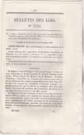 Bulletin Des Lois 1155 De 1844 Extradition Malfaiteurs France Toscane - Essai Télégraphie électrique - Décrets & Lois