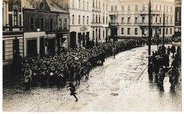 Allemagne Carte-photo JÜLICH Défilé Des Troupes Françaises D'occupartion 1920 (voir Texte) - Allemagne