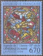 France - 1994 - Vitrail De La Cathédrale Du Mans - YT 2859 Neuf Sans Charnière - MNH - France