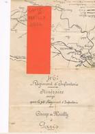 D10 MAILLY LE CAMP. COURRIER AVEC PLAN  DU 46 ème REGIMENT D' INFANTERIE. ITINERAIRE   MAILLY - PARIS 1911. - Documents Historiques