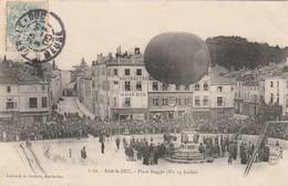 CPA: DIRIGEABLE BALLON PLACE REGGIO 14 JUILLET BAR LE DUC (55)..ÉCRITE - Bar Le Duc