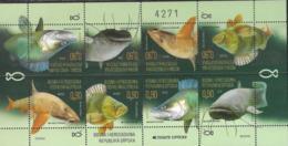 BOSNIA SERB, 2019, MNH,FAUNA, FISH, SHEETLET OF 2 SETS , TETE BECHE, NICE - Fishes