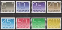 1976 Cijferserie Rol Allemaal Met Rolnummer! NVPH 1108a-1115a Postfris/MNH/** - 1949-1980 (Juliana)