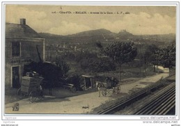 21 MALAIN (cote D'or) - Avenue De La Gare (attelages) - Unclassified