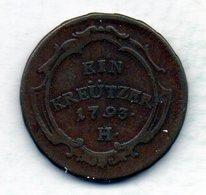 GERMAN STATES - FURTHER AUSTRIA, 1 Kreutzer, Copper, Year 1793, KM #19 - [ 1] …-1871 : Duitse Staten