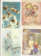 Lot De 100 Cartes Postales Divers , Photos , Fêtes, Fleurs , Publicité, Illustrateurs... - Cartes Postales