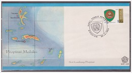 Indonesia 1982 FDC SHP 119 Arms Of Maluka Open - Indonesia