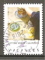 FRANCE 2019 Y T N °1???  Oblitéré CACHET ROND  VACANCES - France
