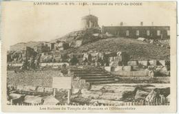 Sommet Du Puy-de-Dôme 1932; Ruines Du Temple De Mercure Et L'Observatoire - Voyagé. (J. Goutteffangeas - Olliergues) - Autres Communes