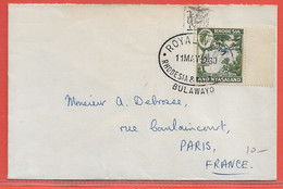 RHODESIE LETTRE DE 1960 DE BULAWAYO POUR PARIS FRANCE - Rhodesia & Nyasaland (1954-1963)