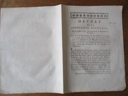 DECRET DE LA CONVENTION NATIONALE DU 19 JUILLET 1793 RELATIF A LA DISTRIBUTION DE DIX MILLIONS CENT QUATRE VINGT QUINZE - Décrets & Lois