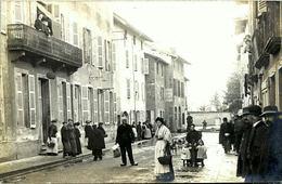 THOISSEY  - Rue Du Port Inondée (1910) Carte-photo - Andere Gemeenten