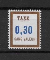 Fictif Taxe N° 16 De 1965 ** TTBE - Cote Y&T 2020 De 1 € - Phantomausgaben