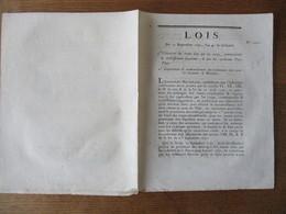 LOIS DU 15 SEPTEMBRE 1792 CREANCIERS DES RENTES DUES PAR LES CORPS COMMUNAUTES & ETABLISSEMENTS SUPPRIMES & PAR LES CI-D - Décrets & Lois