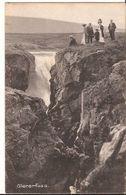 ISLAND  GLERARFOSS WITH PEOPLE  1911 >  ROTTERDAM 819 D2 - Iceland