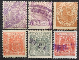 Sélection De 6 Timbres  Fiscaux - Steuermarken/Dienstpost