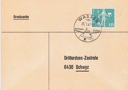Mi: 697. Bücherzettel Von  Wassen Nach Schwyz Drittordenzentrale.  Gotthard - Susten, 25.1.1967 - Switzerland