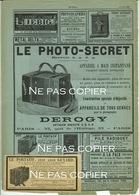 1889 Publicité PHOTO-SECRET De DEROGY Et PORTATIF De L. Guyard Pub D'époque - Appareils Photo