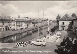 BUTTAFLORA SOPRA TICINO-MILANO-VIA DANTE E LUNGO NAVIGLIO-CARTOLINA VERA FOTO-VIAGG. IL 10-8-1980-PRODUZIONE 1955-1960 - Milano (Milan)