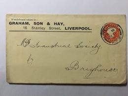 GB Victoria 1901 Cover Liverpool To Brighouse - `Graham, Son & Hay` - 1840-1901 (Victoria)
