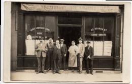 RESTAURANT DES PRAIRIES  C.1925  Devanture Magasin  Carte Photo Vin Liqueur Bière Café - à Identifier - To Identify