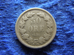 SWEDEN 50 ORE 1875, KM740 - Sweden