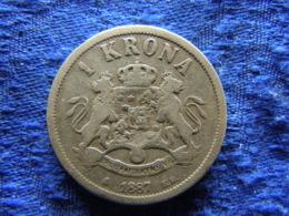 SWEDEN 1 KRONA 1887, KM747 - Zweden