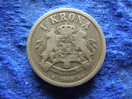 SWEDEN 1 KRONA 1888, KM747 - Suède