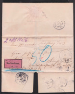 Kirchdorf, Nachnahme Nach München Vom Pfarramte Kirchberg, St. REGEN 20. Und 22 APR 1887, Faltbrief - Cartas