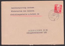 Weisswasser Oberlausitz 8.12.48, An Behörde Landesregierung Sachsen MdI Abwicklungsstelle Zum Befehl 64 - Sowjetische Zone (SBZ)