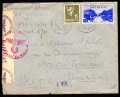 STO En Norvège - Censure Militaire - OVRE ARDAL Du 25/10/43 - Noruega