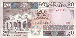 SOMALIA 20 SHILLINGS 1989 P 33d AU/UNC */* - Somalia
