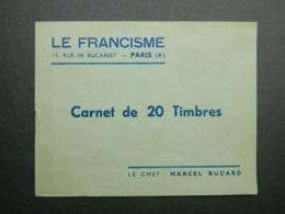 Carnet Vignettes Le Francisme - Erinnofilia