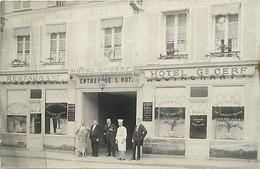 Themes Div-ref EE322- Commerce -hotels Restaurants  -carte Photo Hotel Grand Cerf -  Boultu - - Hotels & Restaurants